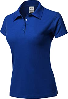 Women's Basic Casual 4-Button Junior-Fit PK Cotton Pique Polyester Polo Shirt