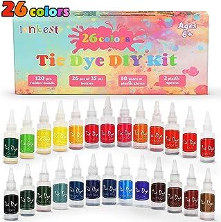 comprar comparacion lenbest 26 Colores Tie Dye DIY Kit, Conjunto de Tinte Tie Tie de un Solo Paso Camisa Tela Tinte Duministros No Tóxicos, co...