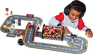 FAO Schwarz Toy Wood Race Circuit Play Track Composite