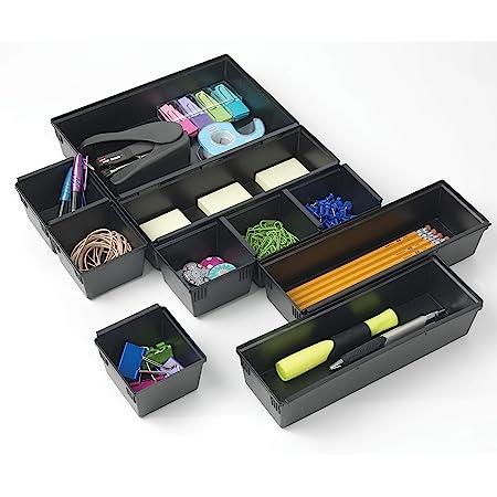 ghdonat.com Drawer Black Organizer Tray Set Home & Kitchen Acid ...