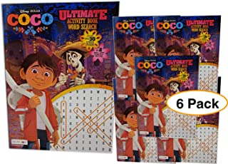 Coco Disney Ultimate Word Search Activity Book w/ 2 pulls posters and stickers (6 pack) Word find Great for Birthday party favors