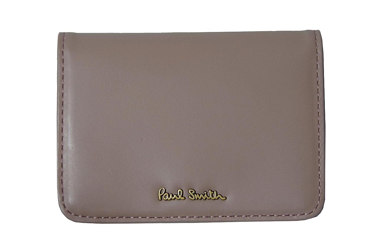 インチすり弾丸ポールスミス PaulSmith パスケース 定期入れ カードケース ピンク 本革 U86124 新品正規品
