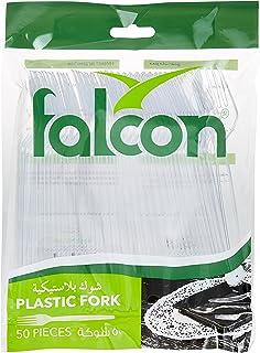 Falcon Plastic Fork Clear 50pcs