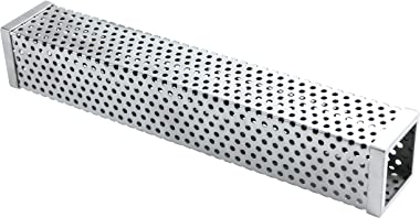 Pellet Smoker Tube, 12'' Stainless Steel Square Smoking Tube for Gas Grill, Electric, Charcoal Grills or Smokers