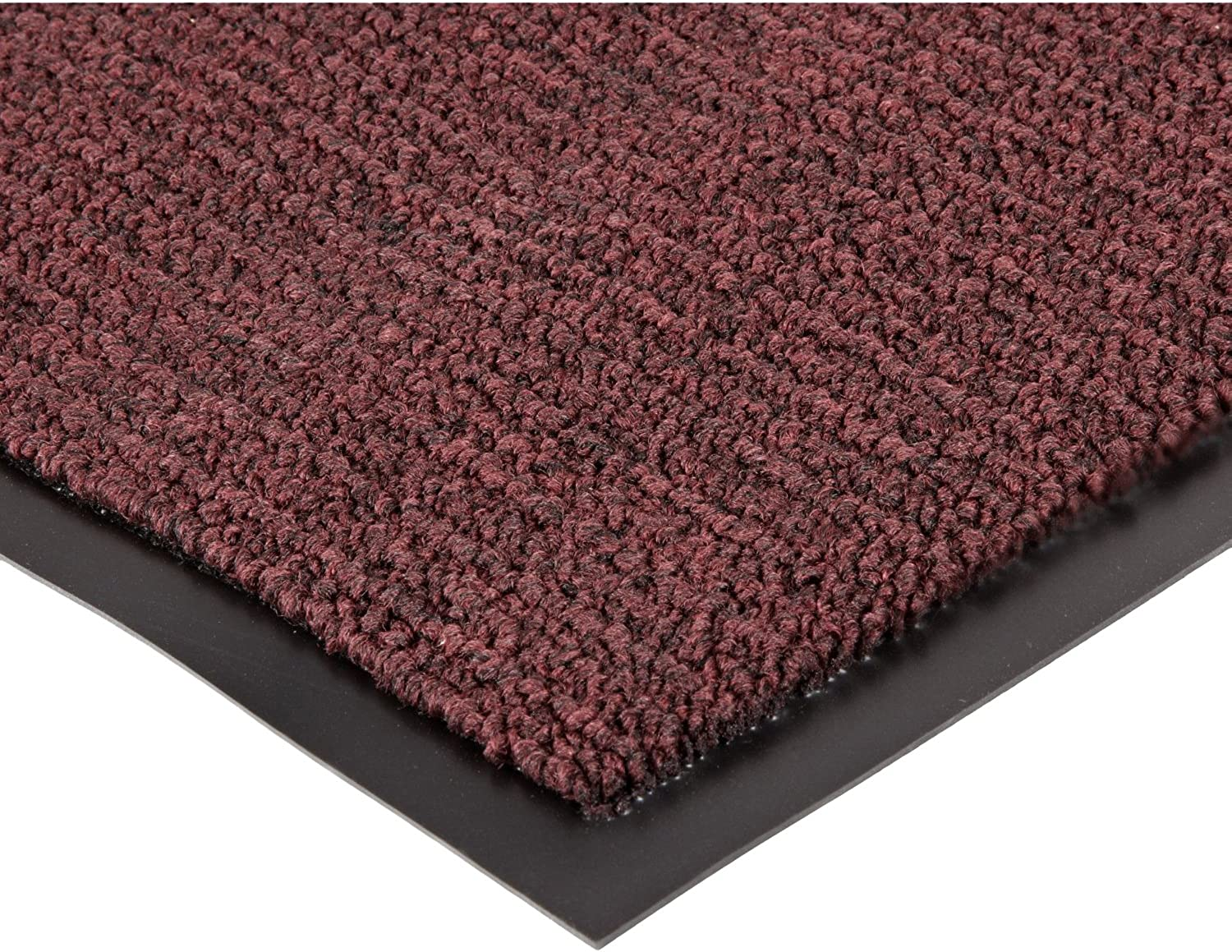 Notrax 132 Estes Entrance Mat, for Main Entranceways and Heavy Traffic Areas, 4' Width x 6' Length x 3 8  Thickness, Burgundy