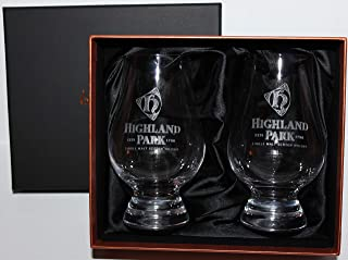 Highland Park Distillery Logo Scotch Whisky Glencairn Two Glass Boxed Set