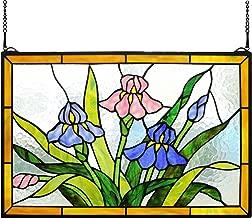 Yolic Tiffany Stained Glass Flowers Garden Window/Wall Panels 16