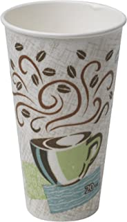 Dixie PerfecTouch 20 oz. Insulated Paper Hot Coffee Cup by GP PRO (Georgia-Pacific), Coffee Haze, 5360CD, 500 Count (25 Cups Per Sleeve, 20 Sleeves Per Case)