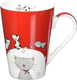 Konitz Mugs Globetrotter Cats Mugs, Set of 4