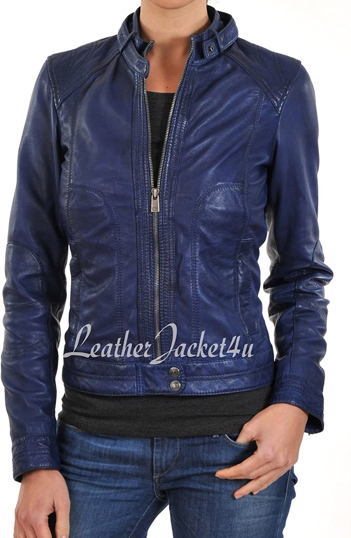 Women's Stylish Genuine Lambskin Leather Jacket 137