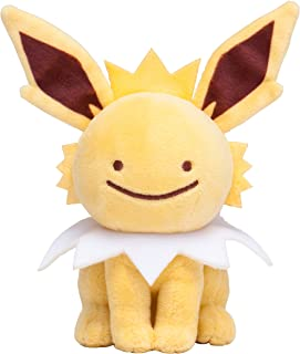 Pokemon Center Original (6.5-Inch) Stuffed Poke Plush Doll Ditto Jolteon (Metamon Thunders)