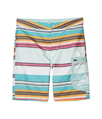 The North Face Kids High Class V Water Shorts (Little Kids/Big Kids) (Fanfare Green Sunset Stripe) Boy