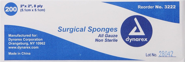 Popular overseas Dynarex Non-Sterile Gauze Sponge Sales results No. 1 Inch 200 2x2 Count