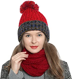 Bufanda de invierno tipo cuello suave y cálida para mujer con diseño de punto