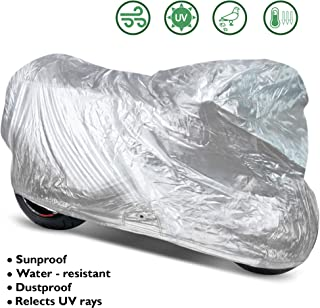 OxGord Solar-Tech Reflective Motorcycle Cover - 100% Sun-Proof - Ready-Fit/Semi Custom - Fits up to 120