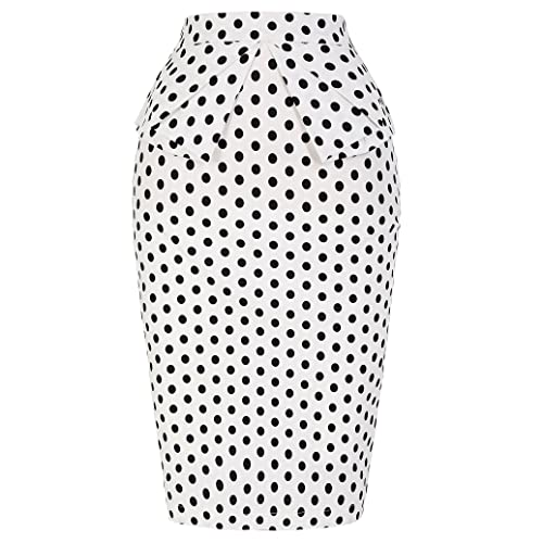 2de4f85919 PrettyWorld Vintage Dress Women's Wear to Work Stretchy Office Pencil Skirt