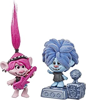 Trolls DreamWorks World Tour Rock City Bobble with 2 Figures, 1 with Bobble Action Plus Base, Toy Inspired by The Movie Wo...