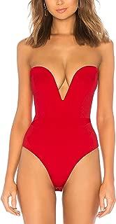 Women's Strapless Plunge Neck Bodysuit