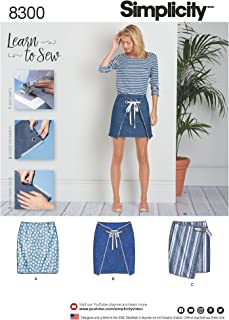 Simplicity Patterns US8300A Sewing Pattern Skirts & Pants, A (6-8-10-12-14-16-18)