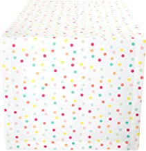 "DII Cotton Table Runner for for Dinner Parties, Weddings & Everyday Use, 14x72"", Polka Dots"