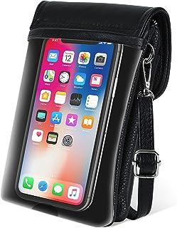 befen Touchscreen Handytasche,【Echtes Leder】 berührbare Crossbody Handytasche für Frauen, Kleine, Touchscreen Umhängetasch...