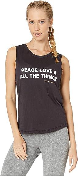Peace Vintage Black