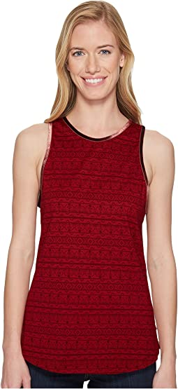 Sanguine Red Knit Print