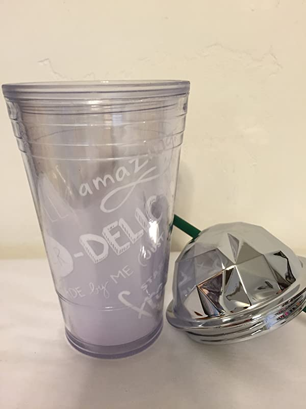 Starbucks Limited Edition Grande Frappuccino Cold Cup With Chrome Dome