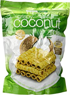 Tropical Fields Crispy Coconut Rolls with Sesame Seeds 9.3oz (2 Pack)