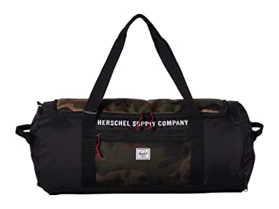 Herschel Supply Co. Sutton Carryall (Black/Woodland Camo) Duffel Bags