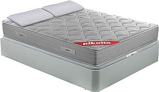 comprar comparacion PIKOLIN Pack Colchón viscoelástico de muelles 135x190+ canapé con Base abatible Blanco y Dos Almohadas de Fibra