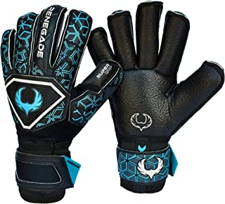 Renegade GK Triton Goalie Gloves with Microbe-Guard (Sizes 5-11, 3 Styles, Level 2) Pro-Tek Fingersaves & Durable 3.5+3MM Super Grip   Great Hard Ground Goalkeeper Glove   Based in The USA