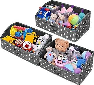 GRANNY SAYS Storage Bins, Kid's Closet Organizer Bins, Trapezoid Nursery Storage Organizer Toy Storage Baskets, Cute Star ...
