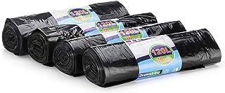 40 piezas Bolsa de basura / bolsa de basura - 120 l (abertura extra grande) con cordón, carga máxima 15 kg, paquete económico 4 x 10 unidades.