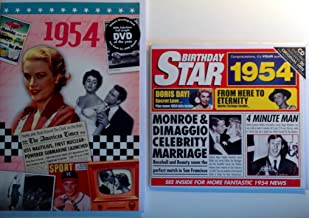 1954 Birthday Gifts Pack - 1954 DVD Film , 1954 Chart Hits CD and 1954 Birthday Card