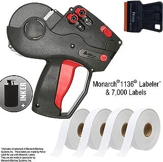 Monarch 1136 Labeler Starter Kit: Includes Price Gun, 7,000 White Price Marking Labels and Preloaded Inker