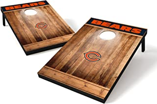 Wild Sports NFL Brown Wood Design Tailgate Toss, Team Color