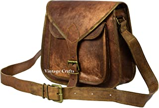 13 BROWN GENUINE LEATHER VINTAGE WOMEN'S PURSE BAG BOHO WESTERN HIPPY CLUTCH (12 inch)