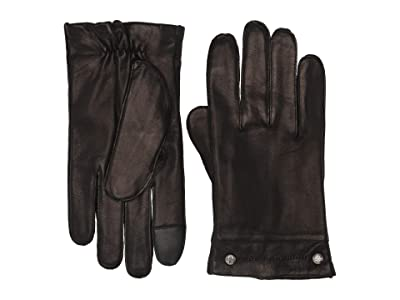 Frye Goatskin Phillips Head Studded Gloves (Black) Over-Mits Gloves