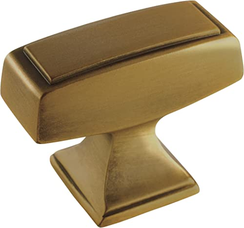 new arrival Amerock BP535342GB Amerock BP535342 Mulholland online online sale 1-1/2 Inch Rectangular Cabinet Knob online sale
