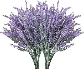 10 Pcs Fleurs De Lavande Artificielles Violette, Les Artificielle Floqué Lavandede Bricolage sont des Décorations