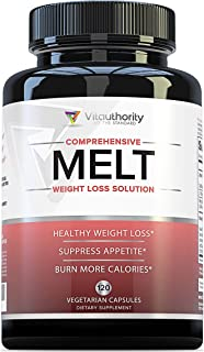 MELT Fat Burner for Women: Diet Pills to Support Weight Loss for Women, Appetite Suppressant and Metabolism Booster with Green Tea EGCG, Sensoril and Acetyl L Carnitine, 120 Vegetarian Capsules