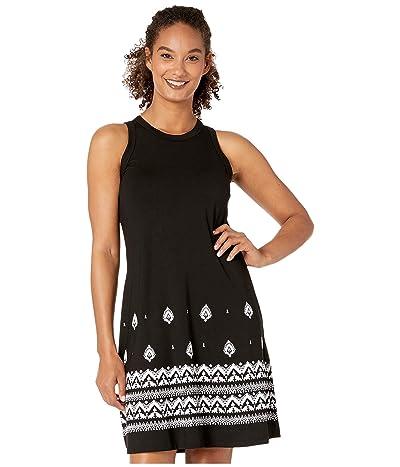 Karen Kane High Neck A-Line Dress (Black) Women