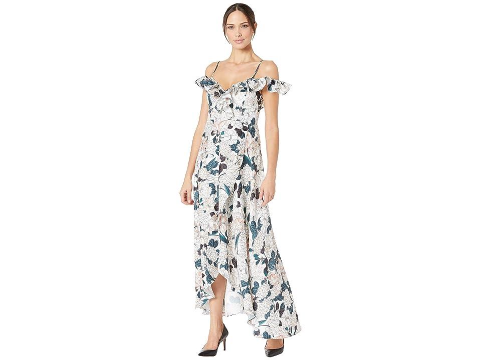 ALEXIA ADMOR Off the Shoulder Ruffle Maxi Dress (Multi) Women