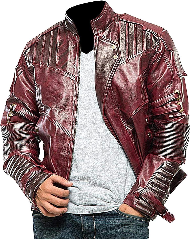 Prime-Fashion Halloween Star Fictional Superhero Movie Maroon Leather Jacket