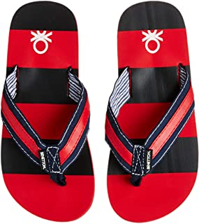 United Colors of Benetton Boy's Red Flip-Flops and House Slippers - 1 UK/India (33 EU)