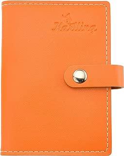 Karlling Soft Leather Case Wallet Bag Holder for 20 Credit Cards Orange