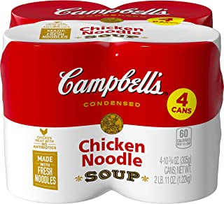 Campbell's Condensed Chicken Noodle Soup, 10.75 oz. Can, 10.75 Ounce (Pack of 4)