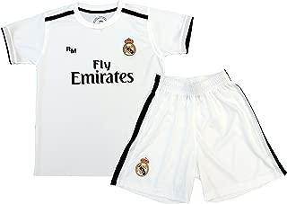 Kit Infantil Real Madrid Réplica Oficial Licenciado de la 1ª Equipación Temporada 2018-19 Sin Dorsal. TALLA 10 AÑOS.