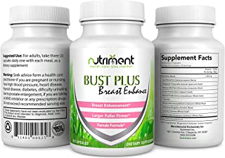 Bust Plus Breast Enhancement Pills - Increase Breast Size Naturally Without Surgery - Bust Enhancer for Women - Add up to ...